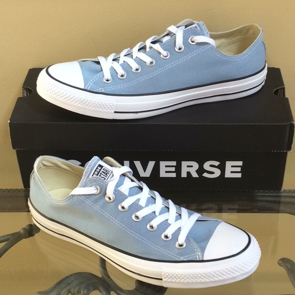 los angeles 82d42 a9ab3 Converse All Star Sneakers Washed Denim Blue